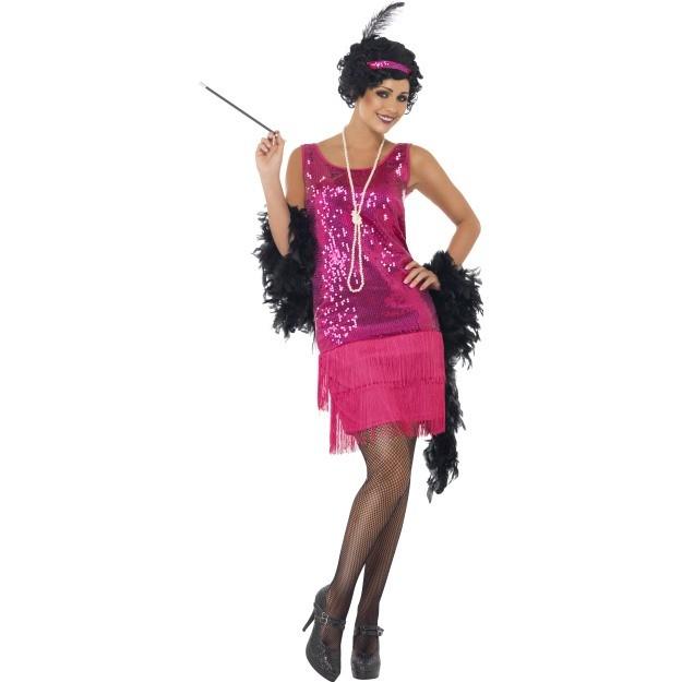 Hot Pink Flapper Costume