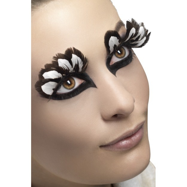 Brown Feather Eyelashes