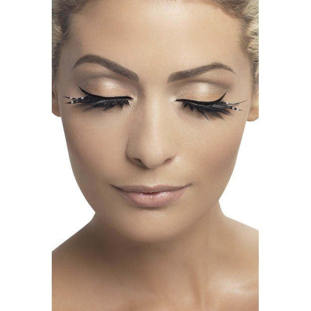 Top & Bottom Black Diamante Lash Set