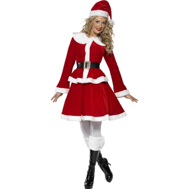 Miss Santa Costume With Muff