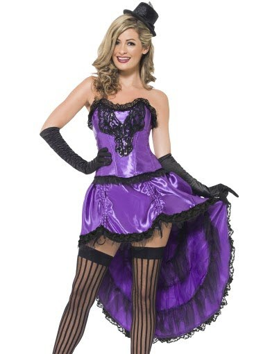 Purple Burlesque Glamour Outfit