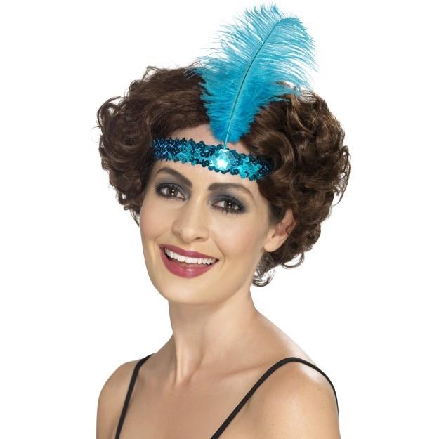 Blue Flapper Headband