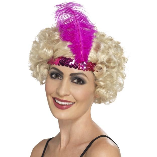 Hot Pink Flapper Headband