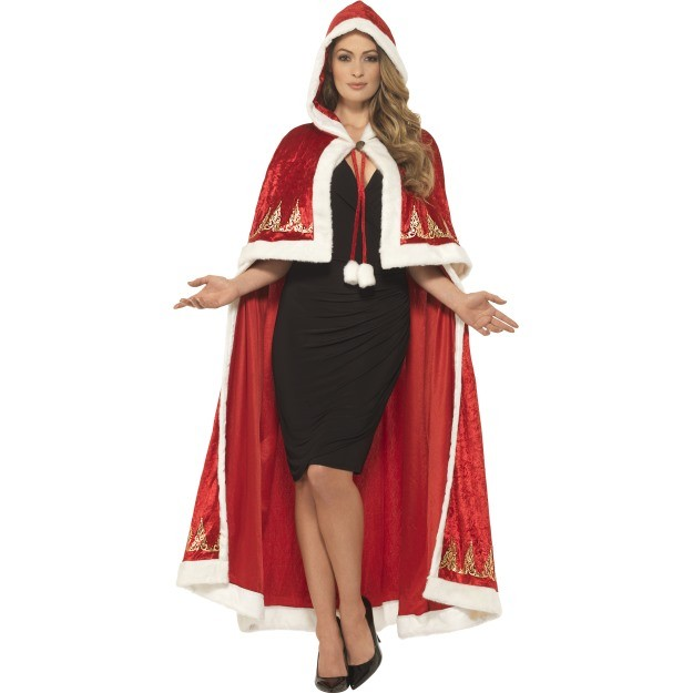 Deluxe Miss Claus Cape