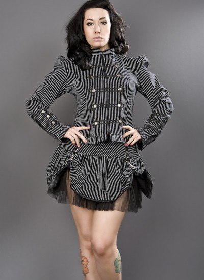Black and White Double Button Jacket
