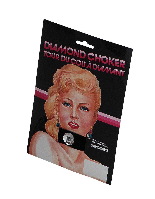 Black Choker with Diamond