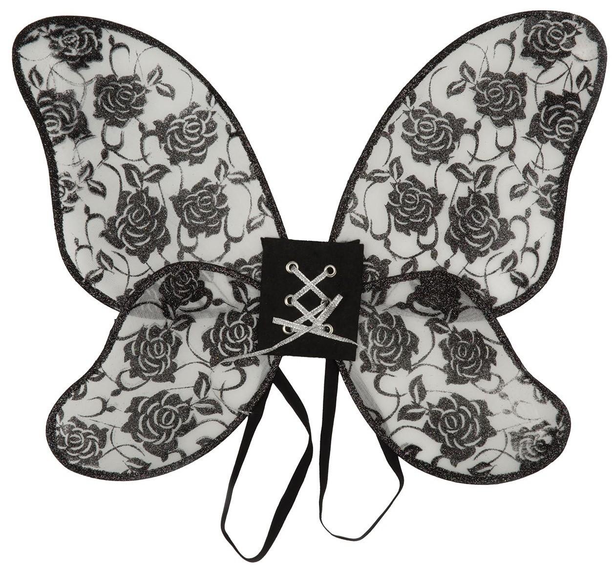 Black Rose Mini Wings