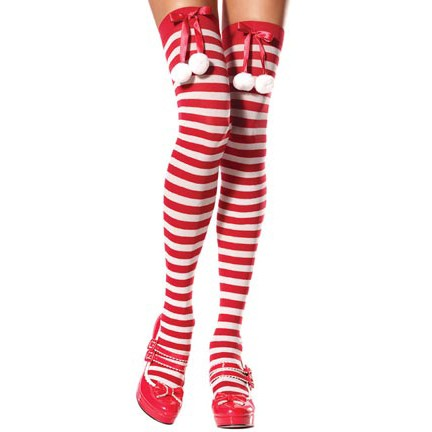 Santa Striped Stockings