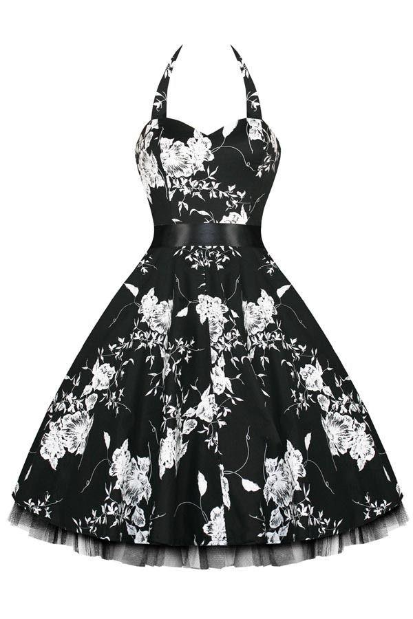 Black Vintage Swing Dress