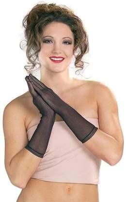 Black Mesh Gloves