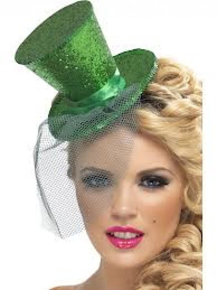 Green Glitter Hat