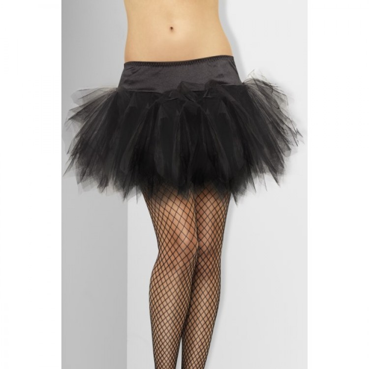 Black Frilly Burlesque Tutu Skirt