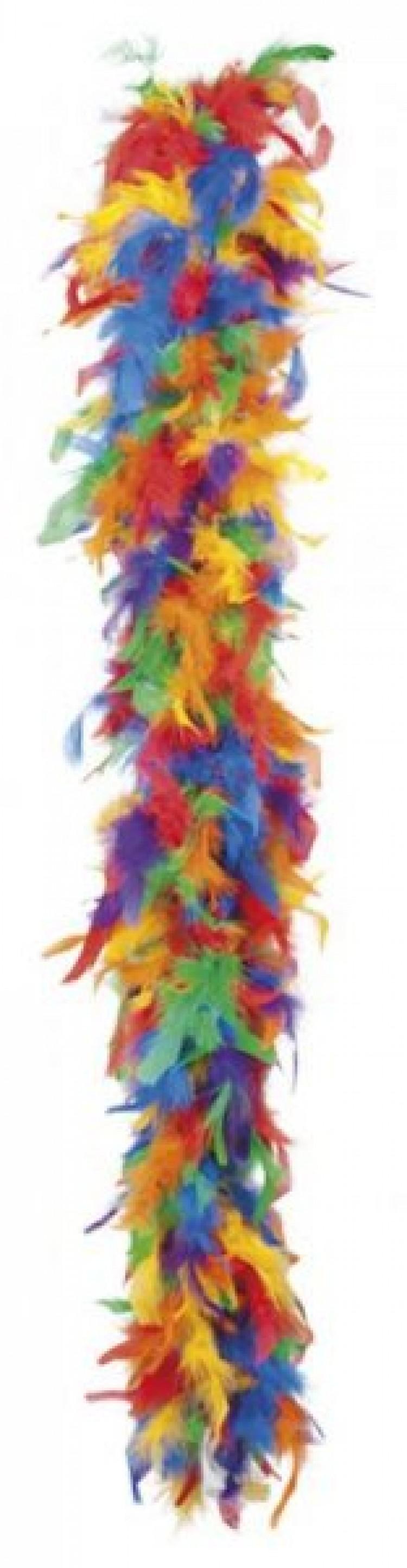 Rainbow Feather Boa