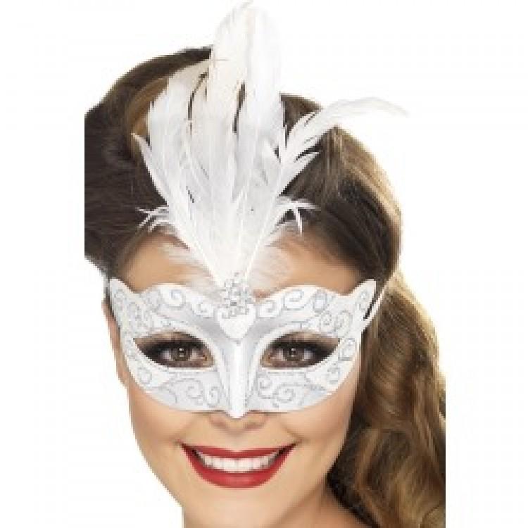 Silver Venetian Glitter Eyemask