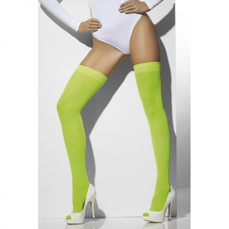 Neon Green Opaque Hold Ups