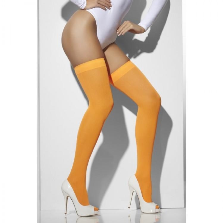 Neon Orange Opaque Hold Ups