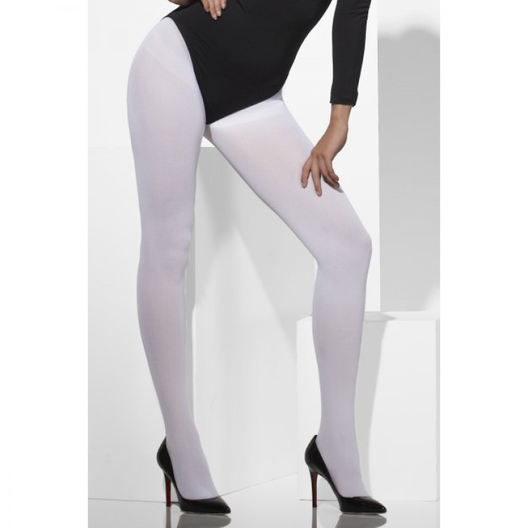 Opaque Tights In White