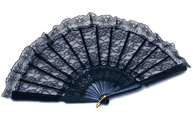 Spanish Black Lace fan