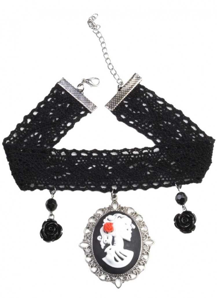 Day of The Dead Lace Choker