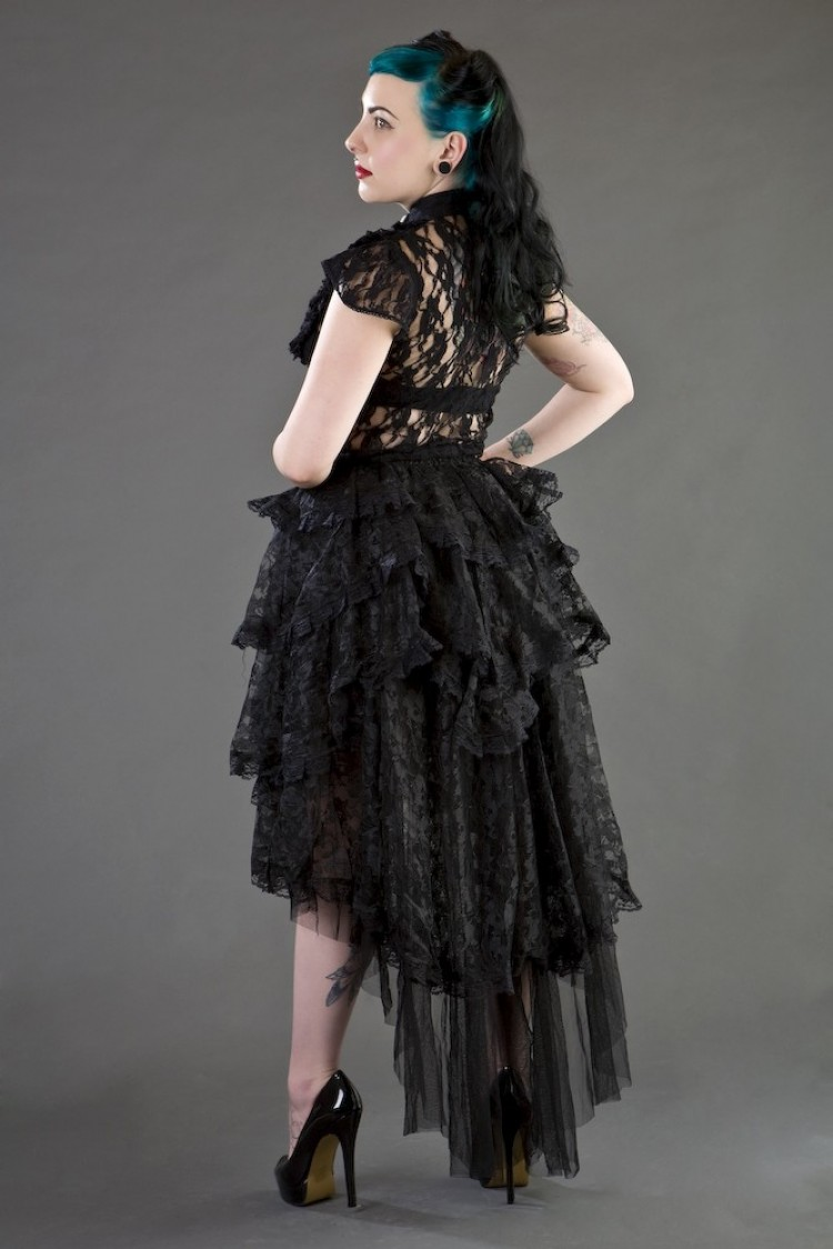 Ophelie Black Lace Skirt