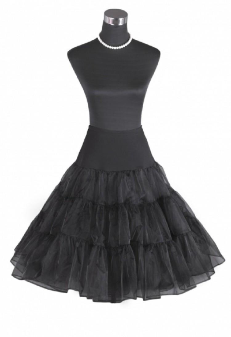 Vintage Rockabilly Black Skirt