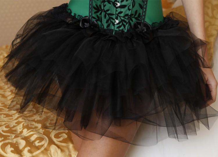 Black Ballerina Style Mesh Skirt