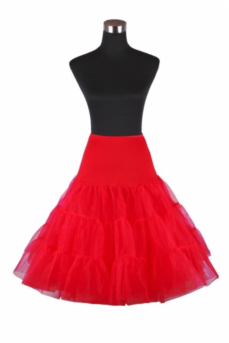 Vintage Rockabilly Red Skirt