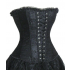 Black Satin Lace Corset Top