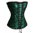 Green Satin Lace Corset Top