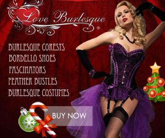 Love Burlesque Christmas Banner