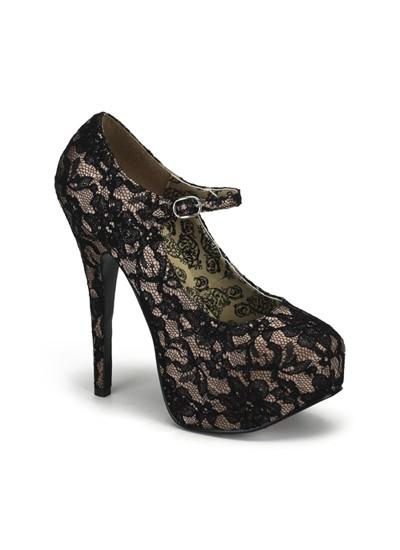 Nude Lace Bordello Teeze Shoes
