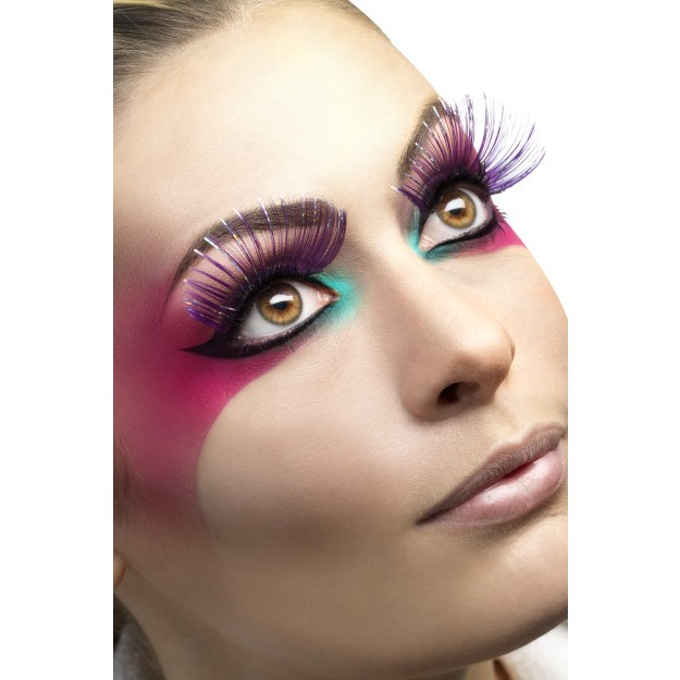 Metallic Purple Eyelashes