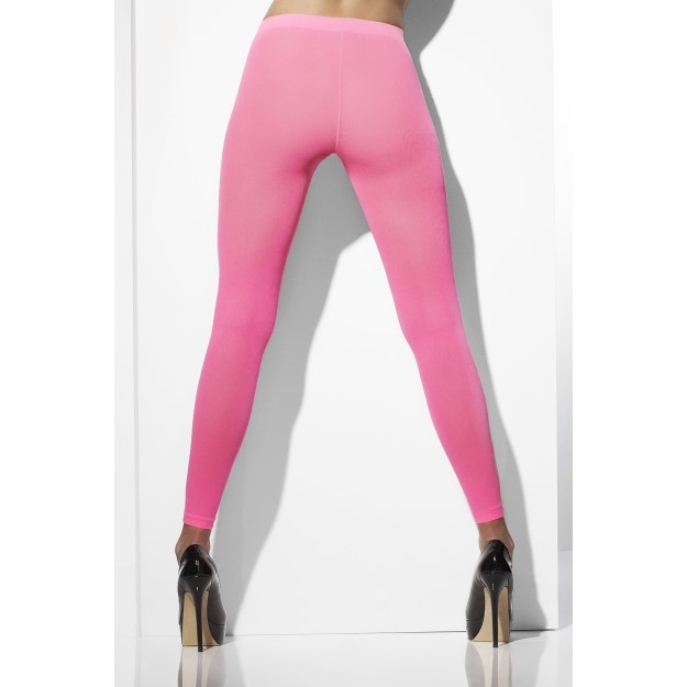 Footless Neon Pink Tights