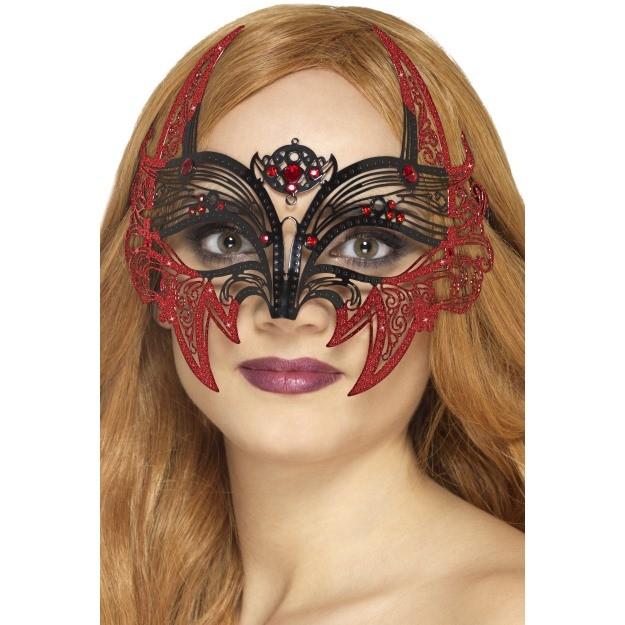 Metal Filigree Devil Eyemask