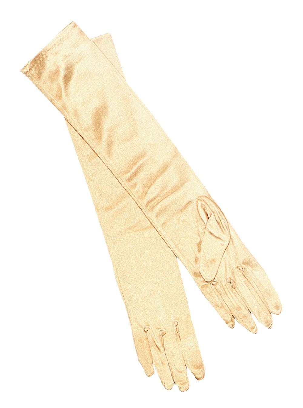 """15"""" Long Lamé Gold Gloves"""
