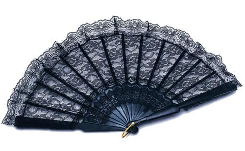 Spanish Black Lace fan