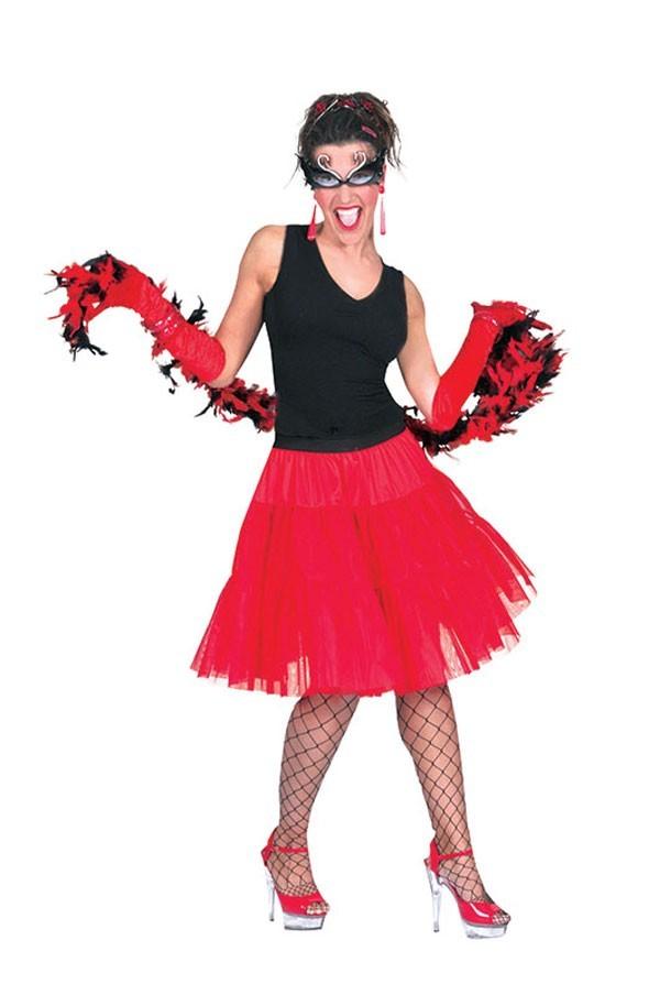 Long Red Petticoat Skirt
