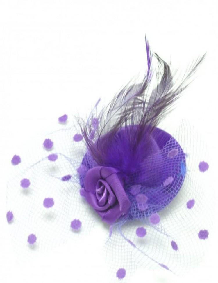 Purple Burlesque Miniature Hat Hairclip