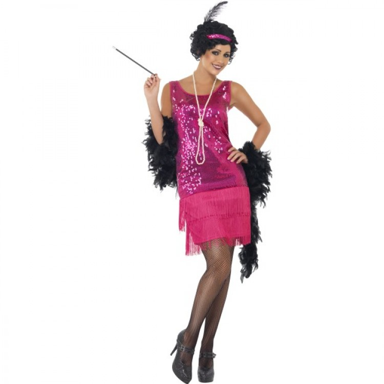 Hot Pink Flapper Costume