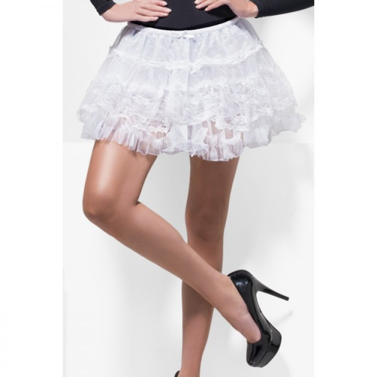 White Lace Petticoat Skirt
