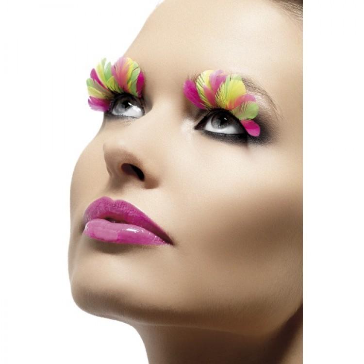 Multicoloured Feather Eyelashes