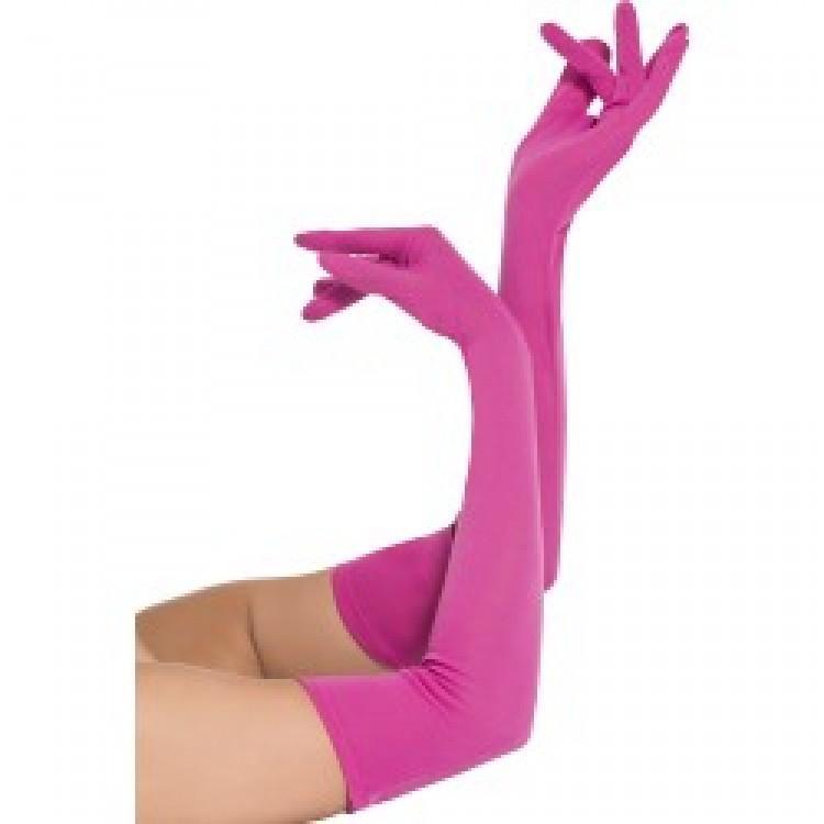 Pink Long Gloves