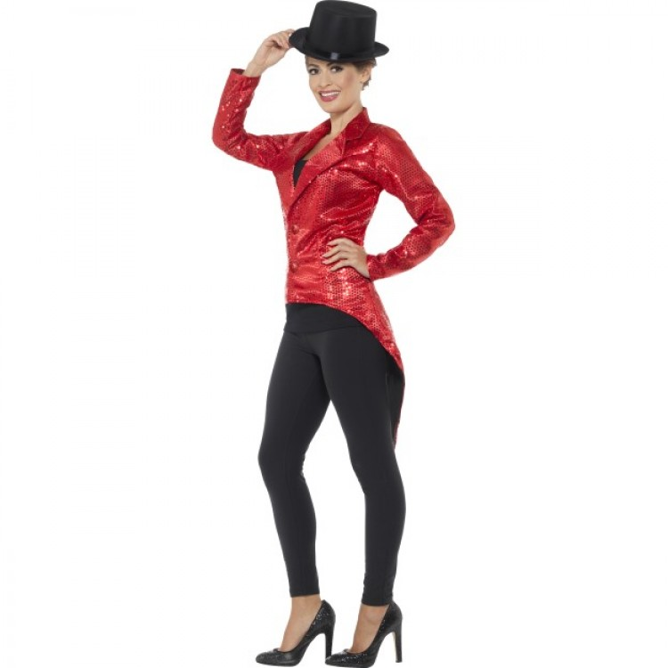 Red Sequin Tailcoat
