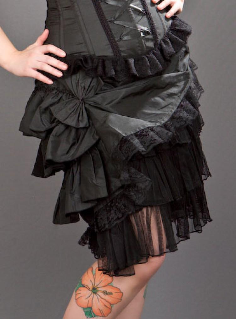 Black Layered Diva Skirt