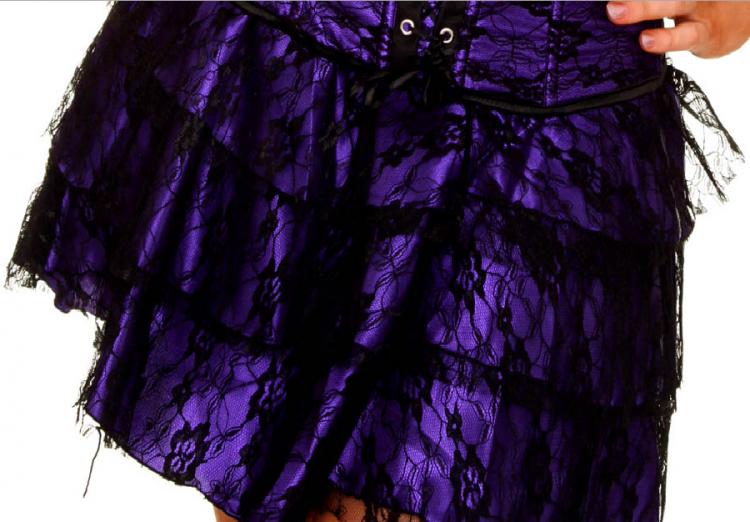 Purple Lace Layered Skirt