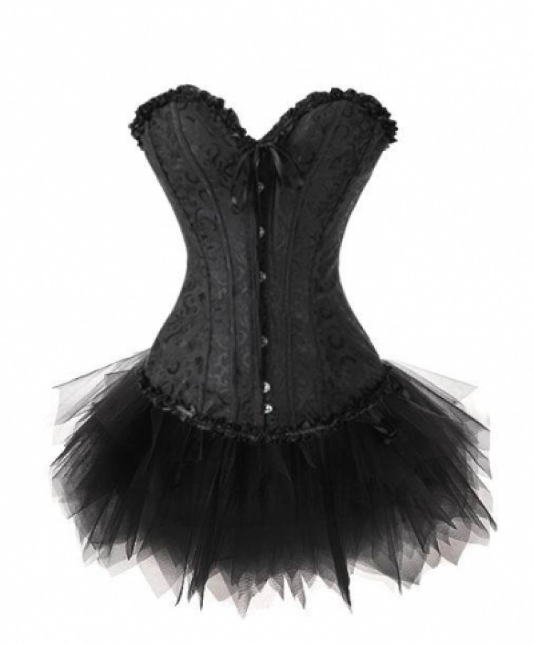 Sweetheart Brocade Corset & Tutu Skirt