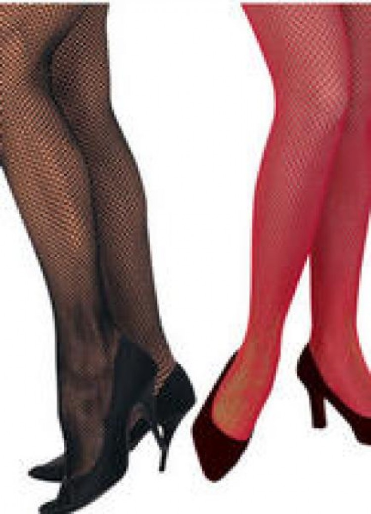Black Or Red Fishnet Tights