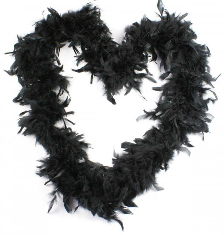 Deluxe Black Burlesque Feather Boa