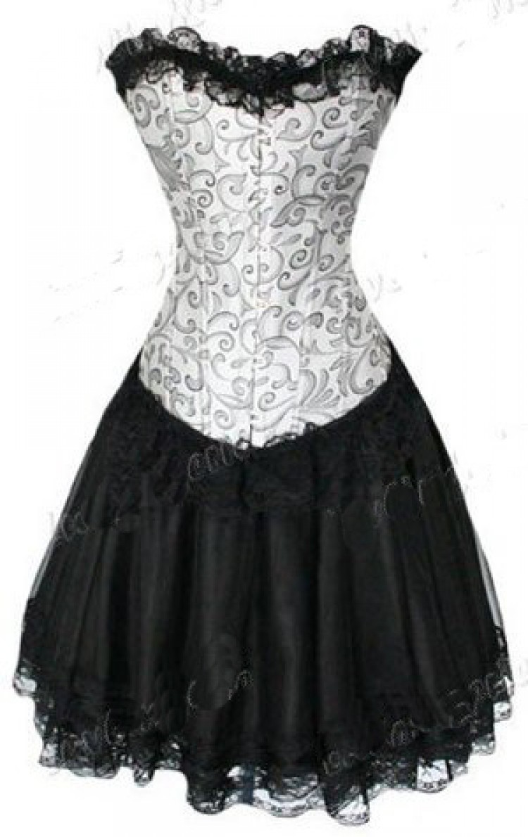 Silver Corset Top & Burlesque Skirt