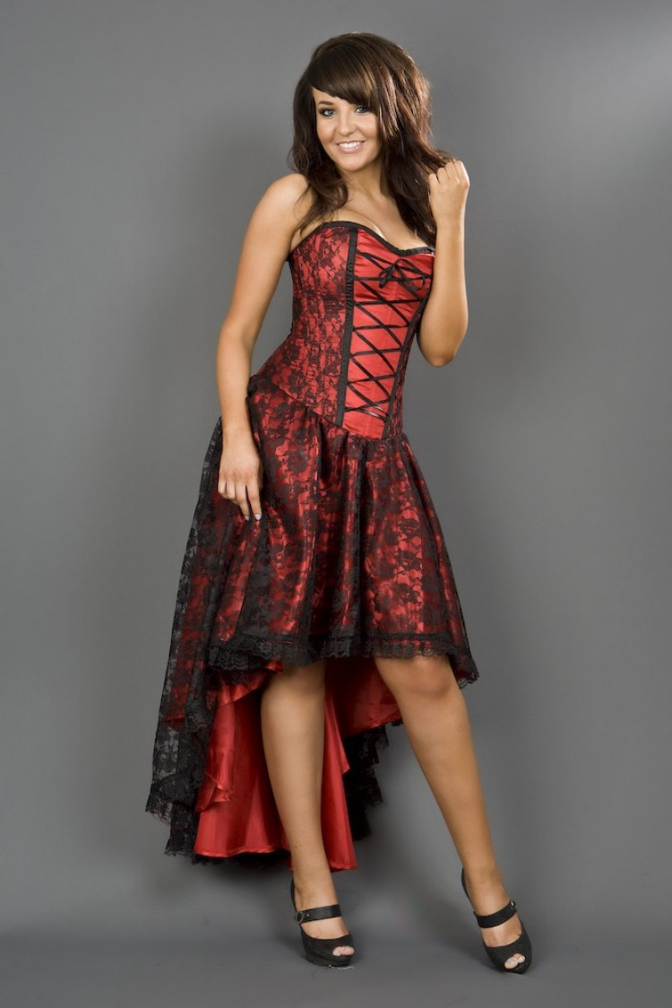 Red Mollflander Satin Dress